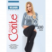 Матовые плотные женские колготки Velour 100 Тм Conte