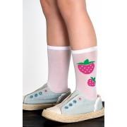 Шкарпетки для дівчаток білі Knittex Strawberry Pie