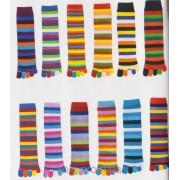 Носки женские с пальцами в полоску